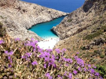 "CreteTravel,West Crete,Private Speedboat 25"" Charter Souda Bay and Secret Beaches Half or Full Day"