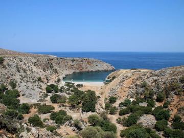 "CreteTravel,West Crete,Private Speedboat 25"" Charter - Rodopou Peninsula and Menies Beach Half Day"