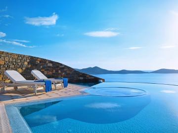 Elounda gulf villas & suites, elounda village best hotel to stay, luxury holidays elounda crete, quality service elounda gulf villas, villas private pool elounda village crete, child friendly villas suites elounda, best food elounda hotel, elouda gulf royal villa