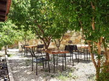 mountain views, monastery estate guesthouse, monastery retreat hotel, moni village hotel with apartments, Deluxe apartment with private yard and hot tub, sougia village best place to stay, where to stay sougia village, monasteri estate hotel sougia