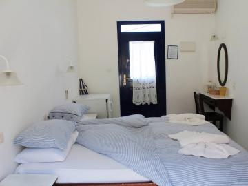 double room, porto loutro on the beach, loutro hotels