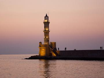 lighthouse chania port, DomicileChania Venetian Residence, historic house chania, one-bedroom residence Chania,  Chania Old Town house, Venetian Harbour apartment, sea views residence chania, best place to stay chania old venetian port, chania villas