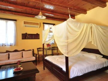 deluxe double room, elia traditional hotel chania crete, ano vouves elia inn, kolimvari elia hotel spa