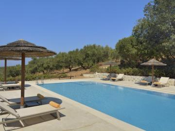 swimming pool Elia Traditional Hotel & Inn, Ano Vouves kolivmari Chania, Crete best Small hotels, elia hotel spa, bed and breakfast in mountains, eco friendly hotel crete, small inns chania crete