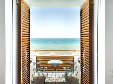 deluxe sea view studio,  ammos small hotel, chania hotels, boutique design, best small hotel chania crete, family friendly hotel chania, best small hotel chania crete