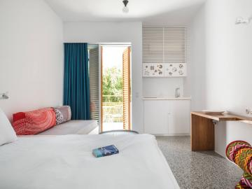 Garden view studio,  ammos small hotel, chania hotels, boutique design, best small hotel chania crete, family friendly hotel chania, best small hotel chania crete