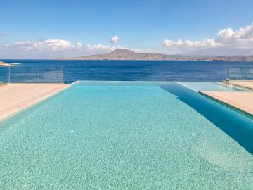 luxury Villa Imperial in Chania Crete, Villa Imperial heated pool and jacuzzi, 6 bedrooms villa chania crete, Luxury Residence Collection,  family villa beach chania crete, family villa sea views chania crete, best luxury villa chania crete, Villa private pool jacuzzi sea views chania